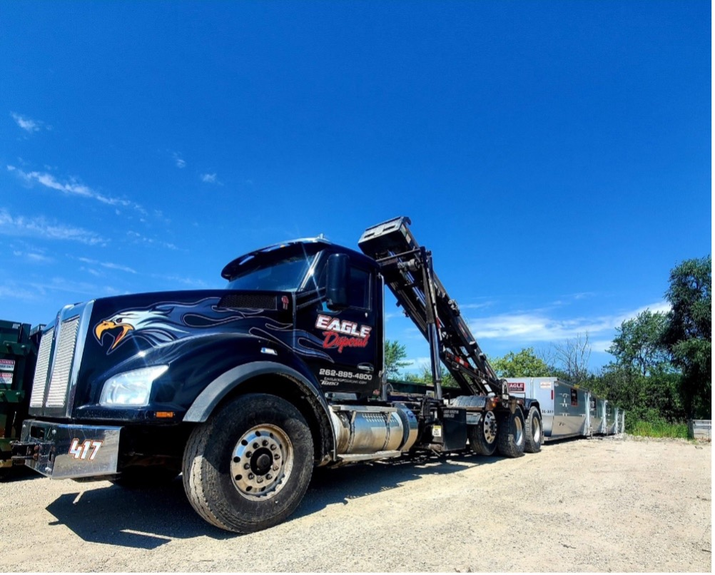 Dumpster rental delivery in Greenfield, Wisconsin