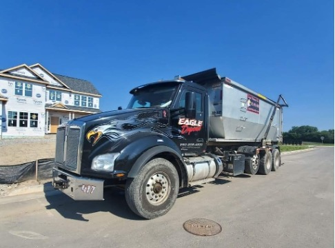 Dumpster rental delivery in Caledonia, Wisconsin