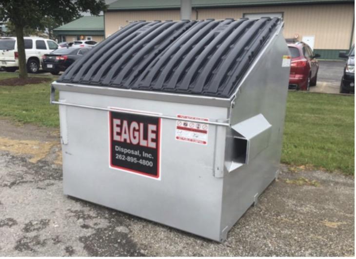 Rental dumpster in Oak Creek, Wisconsin